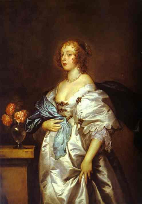 Oil painting:Lady Borlase. 1638