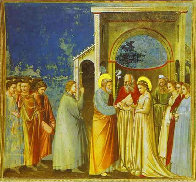 Oil painting:Marriage of the Virgin. 1302