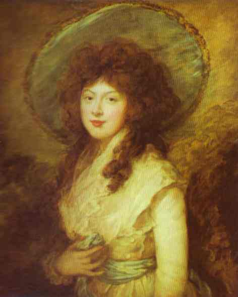 Oil painting:Miss Catherine Tatton. 1785