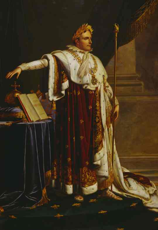 Oil painting:Napoleon in Coronation Robes.