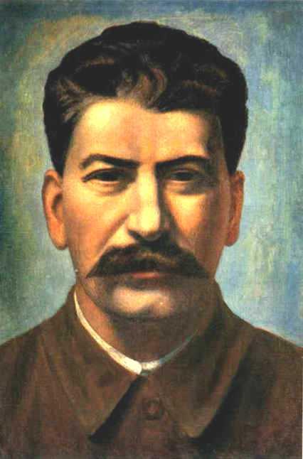 Oil painting:Portrait of Joseph Stalin. 1936