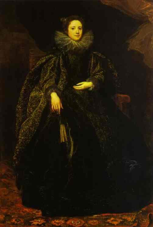 Oil painting:Portrait of Marchesa Balbi. 1622