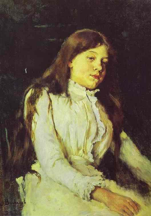 Oil painting:Portrait of Natalia Mamontova. 1883