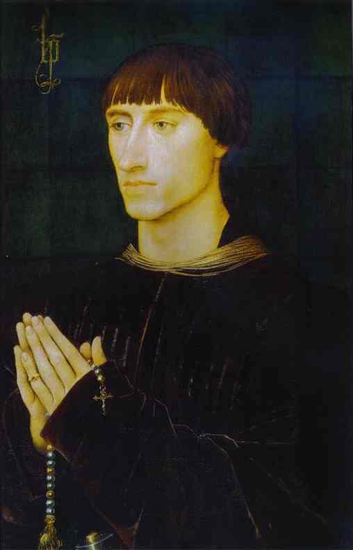 Oil painting:Portrait of Philippe de Croy. c.1460
