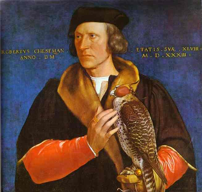 Oil painting:Portrait of Robert Cheseman. 1533
