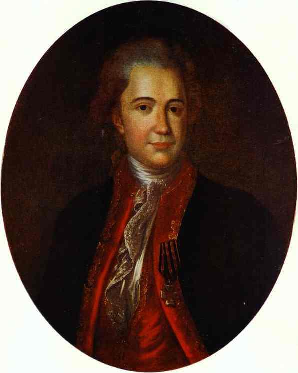 Oil painting:Portrait of V. N. Surovtseva. 1780s.