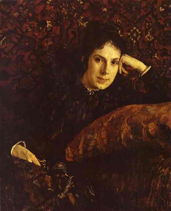 Oil painting:Portrait of Yekaterina Chokolova. 1887