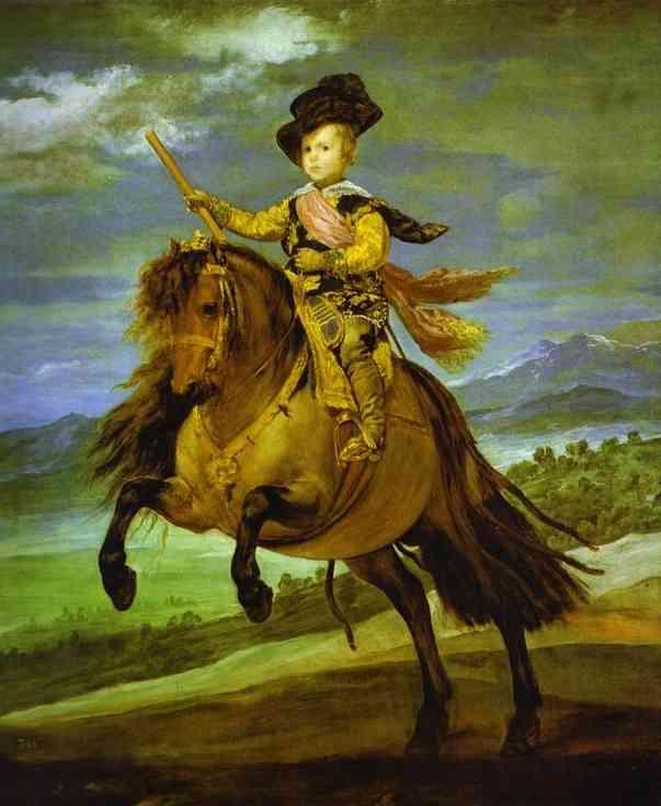Oil painting:Prince Baltasar Carlos on Horseback. 1634