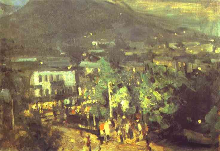 Oil painting: Southern Night. 1904