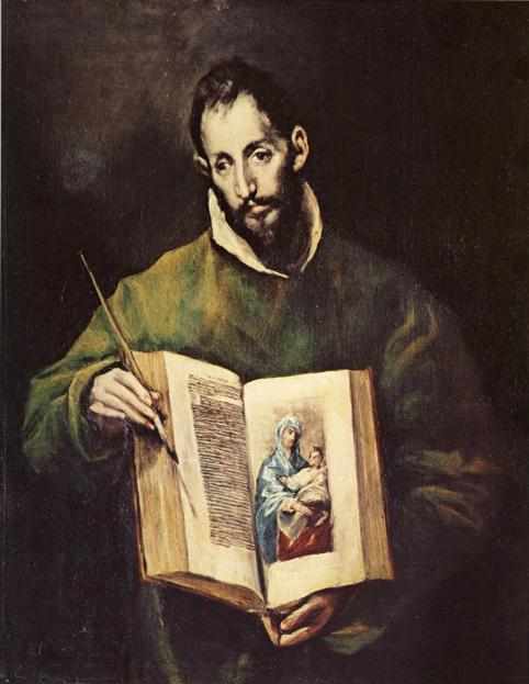 Oil painting:St. Luke. c. 1605-1610