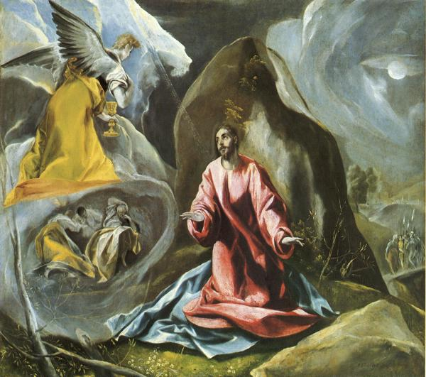 Oil painting:The Agony in the Garden. c.1595