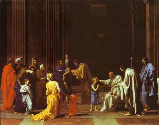 Oil painting:The Confirmation. 1640