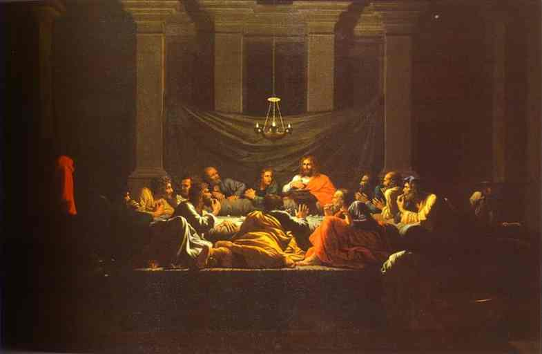 Oil painting:The Eucharist. 1647