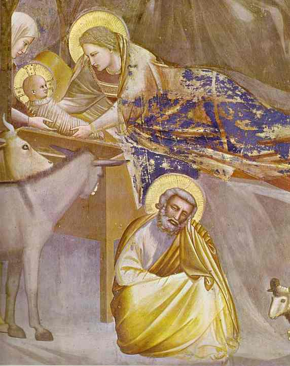 Oil painting:The Nativity. 1304