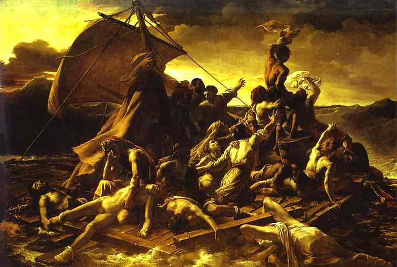 Oil painting:The Raft of the Medusa. 1818