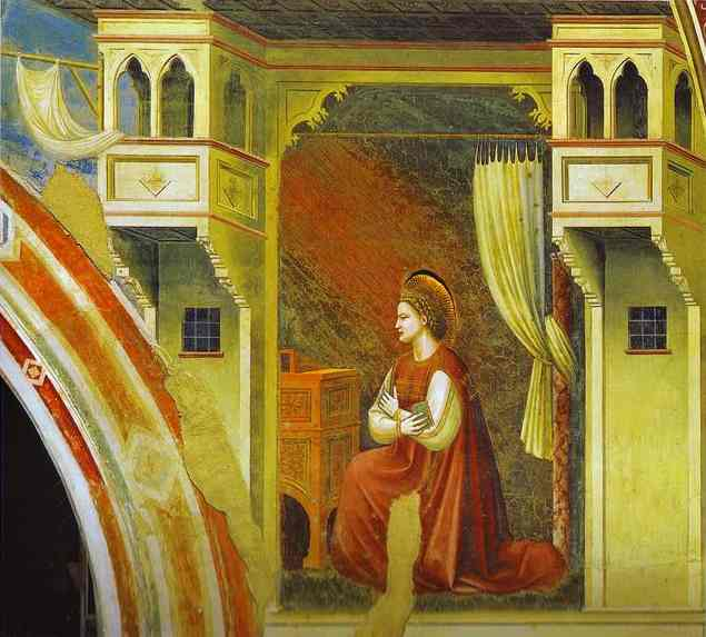 Oil painting:The Virgin of Annunciation. 1302