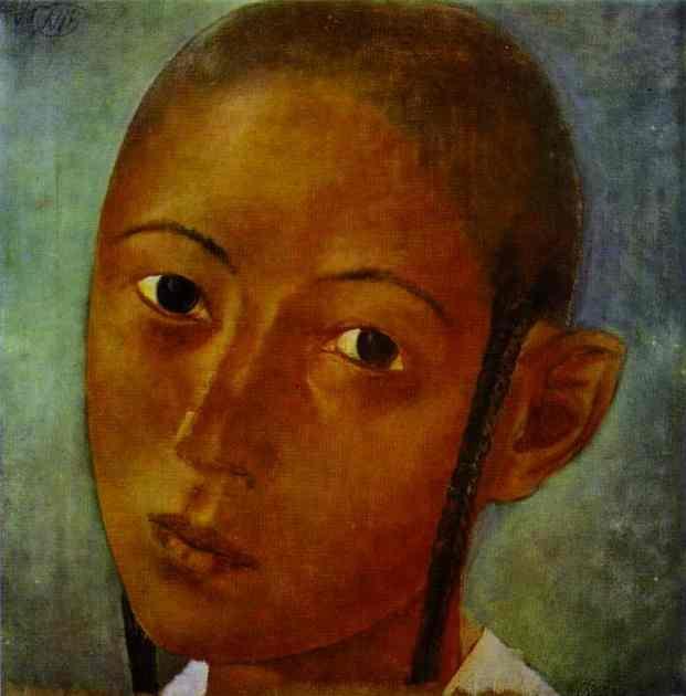 Oil painting:Uzbek Boy. 1921