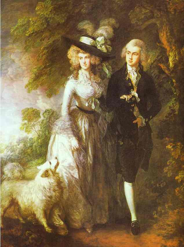 Oil painting:William Hallett and His Wife Elizabeth, nee Stephen, known as The Morning Walk. 1785