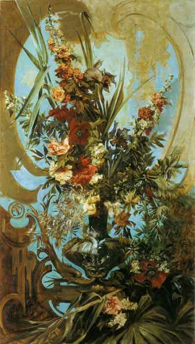 Oil painting for sale:Grosses Blumenstuck [Large Flower Piece], c.1884