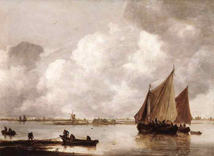 Oil painting for sale:Haarlemer Meer, 1656