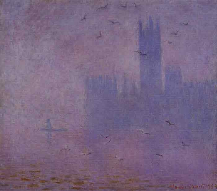 Oil painting for sale:Houses of Parliament, Seagulls , 1900