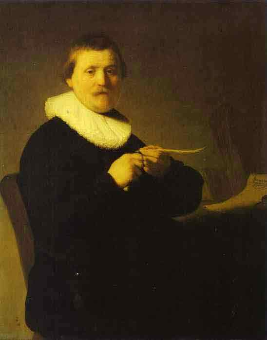 A Man Sharpening a Quill. c. 1632
