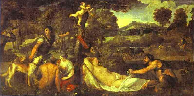 Pardo Venus (Jupiter and Antiope). 1535