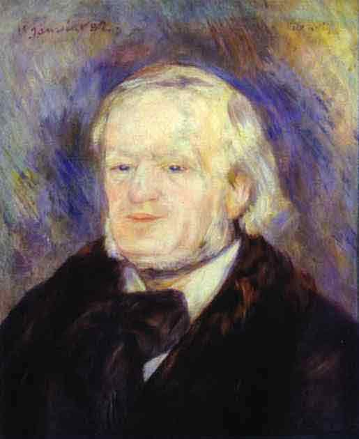 Portrait of Richard Wagner. 1882