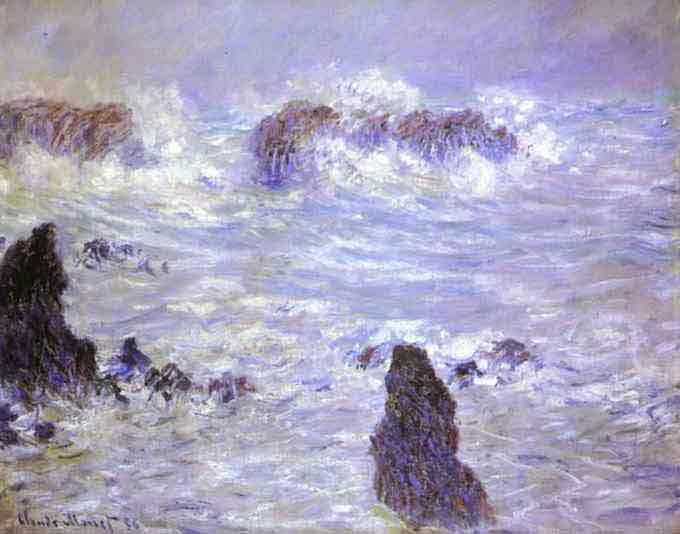 Storm, Coast at Belle-Ile 1886.