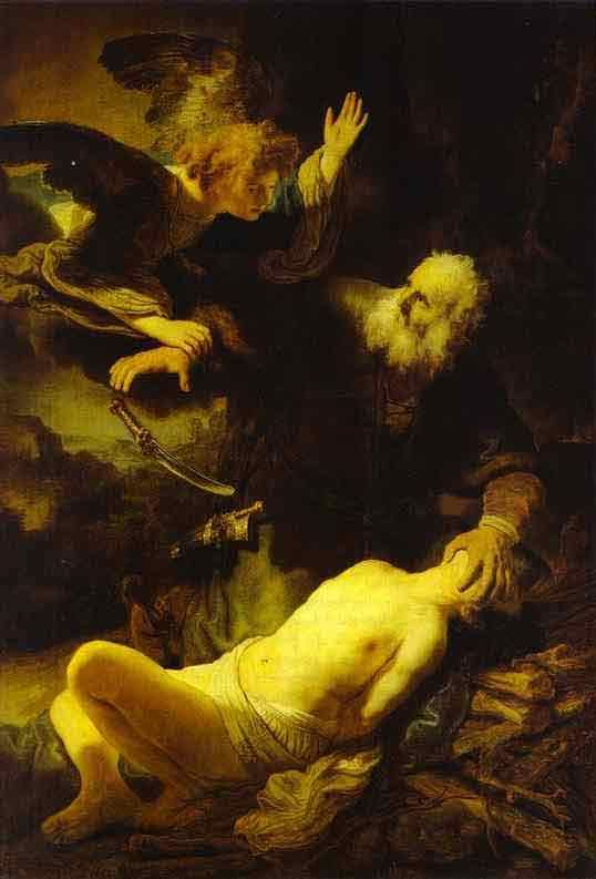 The Angel Stopping Abraham from Sacrificing Isaac to God. 1635