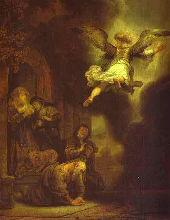 The Archangel Leaving the Family of Tobias. 1637
