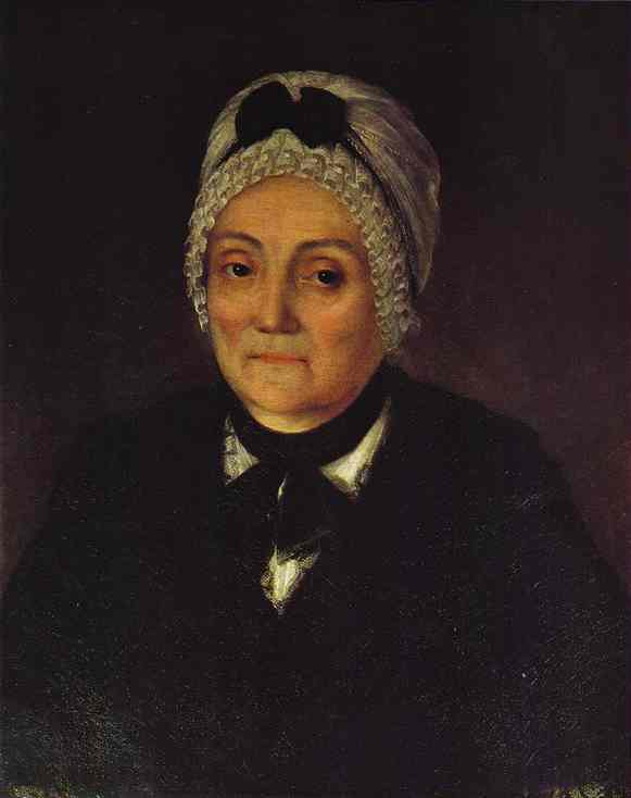 Oil painting:Portrait of Natalia Cherevina at the Age of 60. 1774
