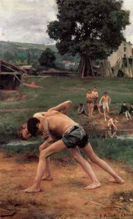 Oil painting for sale:La Lutte [Wrestling], 1889