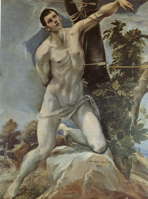 Oil painting:St. Sebastian.1577-1578