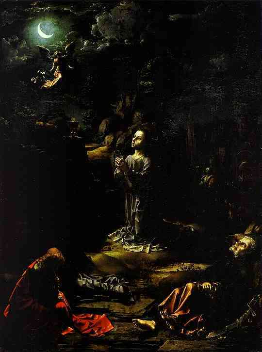 Oil painting:The Agony in the Garden. c. 1510