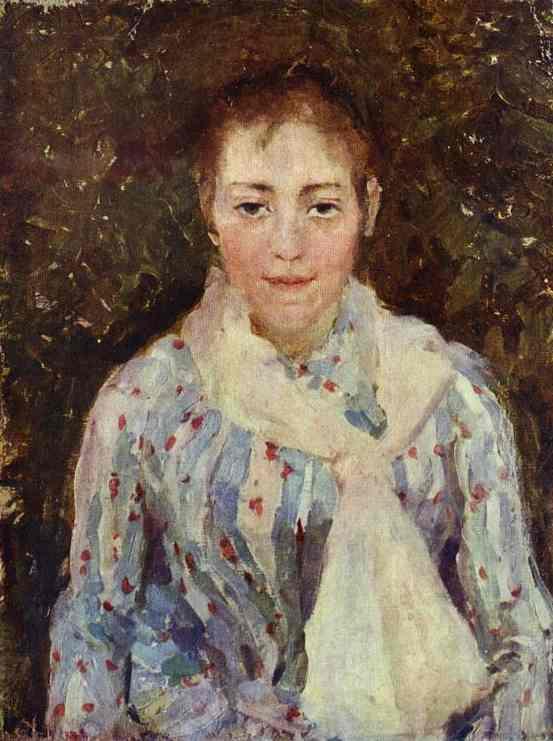 Oil painting: Portrait of the Artist V. V. Wulf. Oil on c