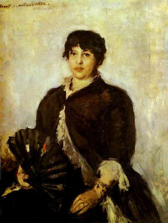 Oil painting: Portrait of Olga Alyabyeva. 1889