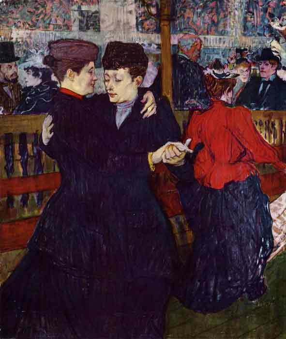 Oil painting for sale:At the Moulin Rouge: the Two Waltzers , 1892
