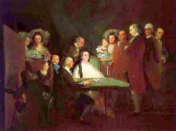 Oil painting:The Family of the Infante Don Luis de Borb