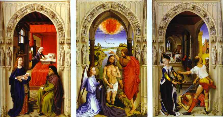 Oil painting:St. John Altarpiece. c.1455