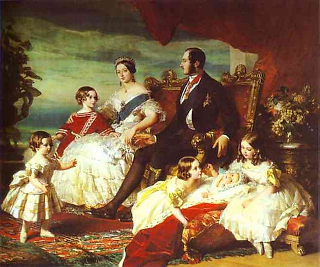 Oil painting:The Family of Queen Victoria. 1846