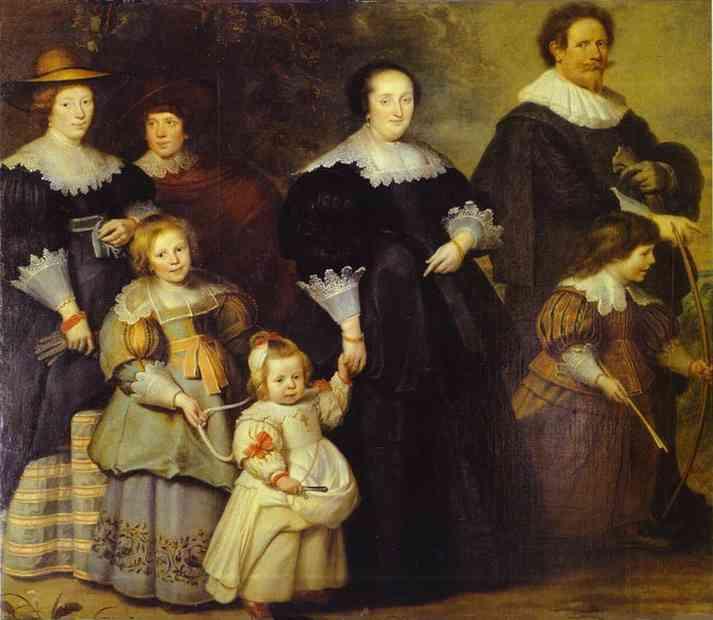 Oil painting:Family Portrait.