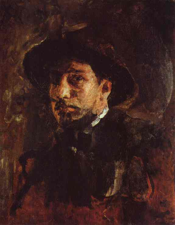 Oil painting:Self-Portrait. 1885