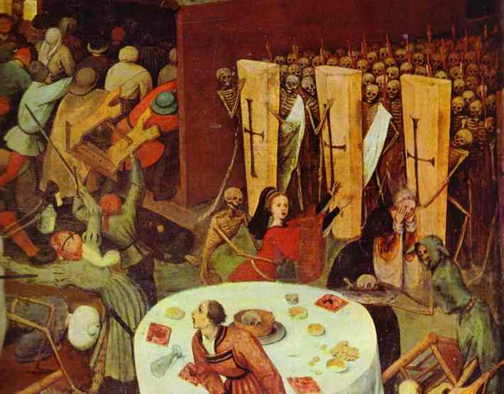 Oil painting:The Triumph of Death. Detail. c. 1562