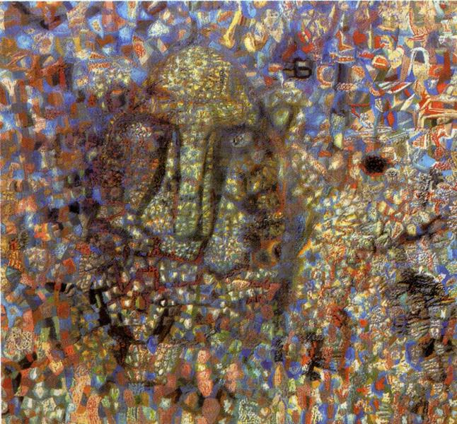 Oil painting:Head. 1930