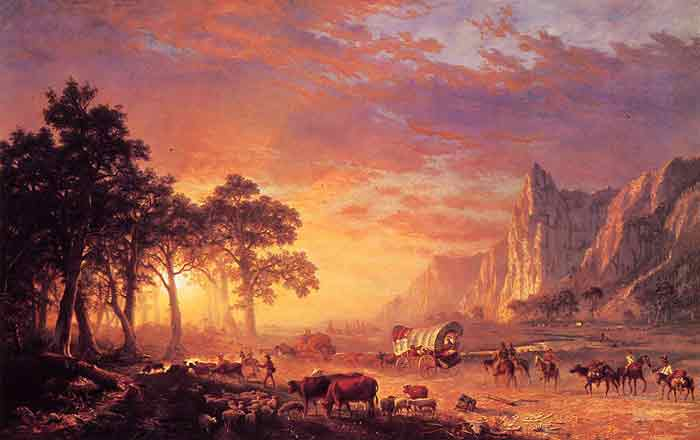 Oil painting for sale:The Oregon Trail , 1869