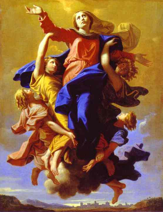 Oil painting:The Assumption of the Virgin. 1650