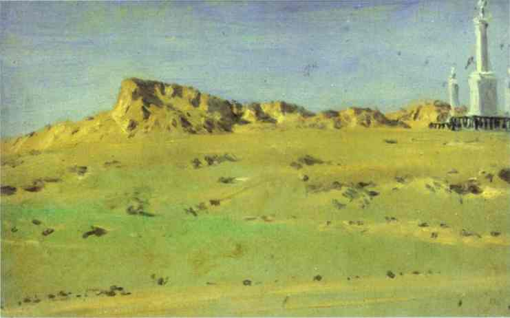 Oil painting:Corner of the Turkish Redoubt Captured on May 30 but Abandoned on May 31. Study. 1877
