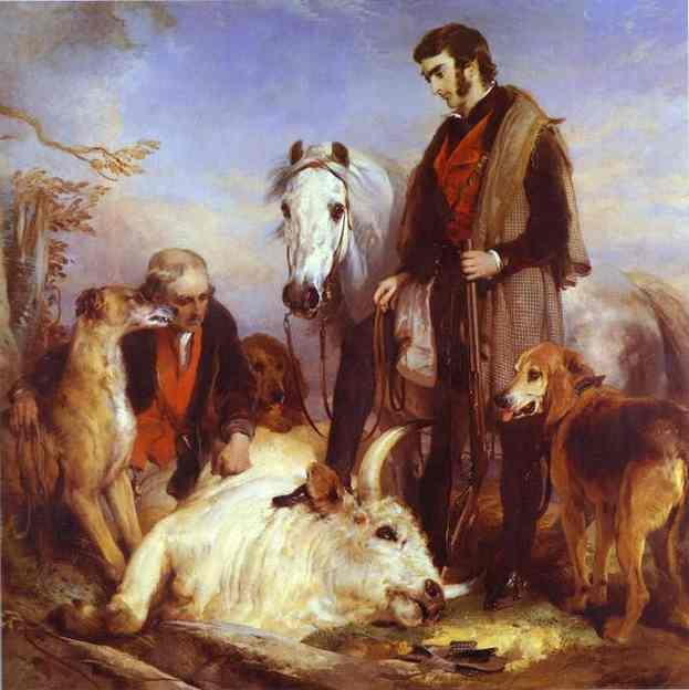 Oil painting:Death of the Wild Bull. 1833