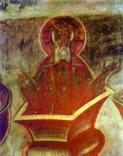 Oil painting:Fresco. 1378.